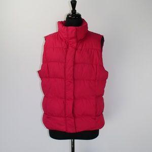 Gap Weekend Puffer vest, Lipstick Pink, XL